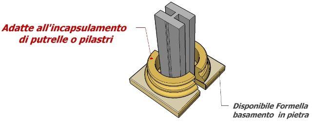 Colonne per esterni in polistirolo effetto pietra - Elementi decorativi in polistirolo per interni ...