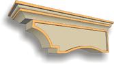 mensole polistirolo effetto pietra profili decorativi